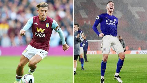 Aston Villa vs Leicester : Grealish đọ tài Maddison