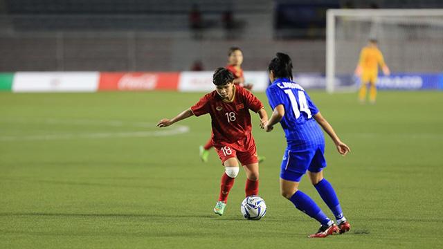 ĐT nữ Việt Nam đang chơi hợp lý. Ảnh: Trí Công/ Đức Cường