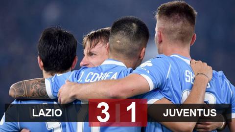 Lazio 3-1 Juventus: Lão bà nhận trận thua từ đầu mùa