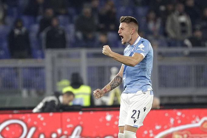 Milinkovic-Savic nâng tỷ số lên 2-1 cho Lazio