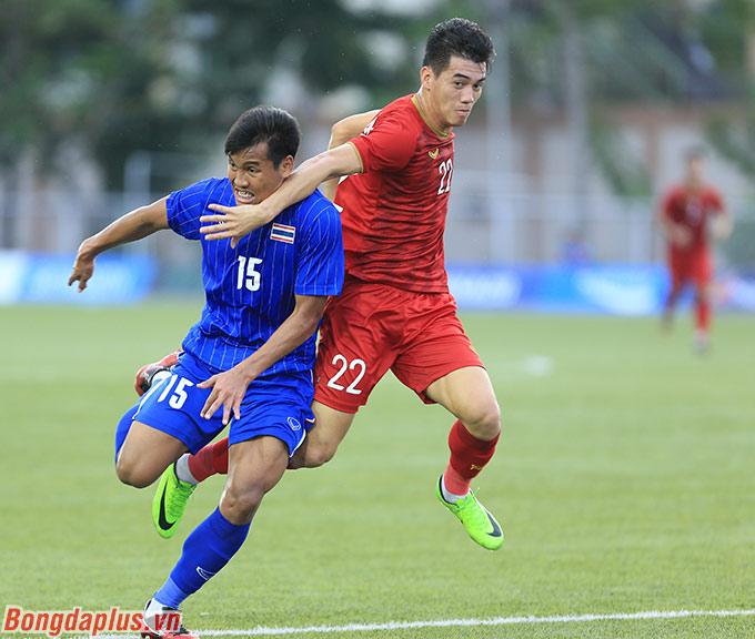 Trận hòa 2-2 trước U22 Việt Nam là nguyên nhân khiến U22 Thái Lan bị loại - Ảnh: Đức Cường