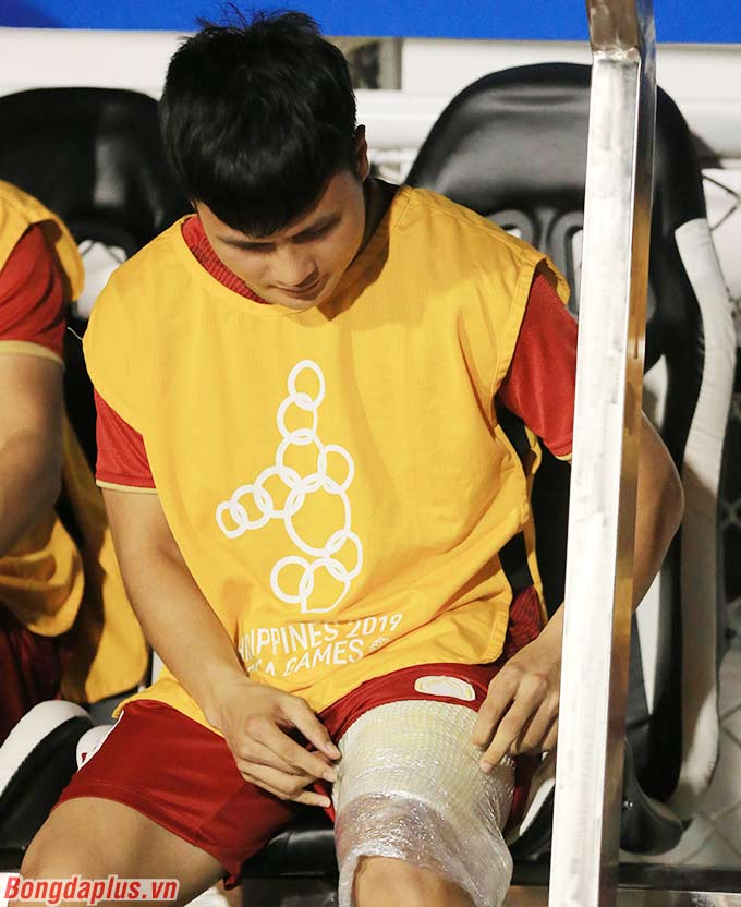 Quang Hải sẽ không thể thi đấu ở trận chung kết SEA Games vì chấn thương cơ nhị đầu đùi trái.
