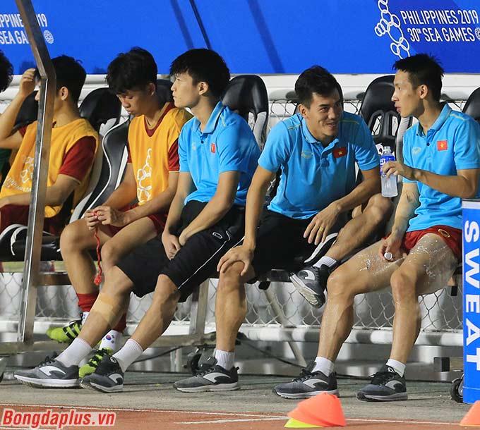 Các cầu thủ U22 Việt Nam hồ hởi và phấn chấn khi được góp mặt ở trận chung kết SEA Games lần đầu tiên sau 10 năm.