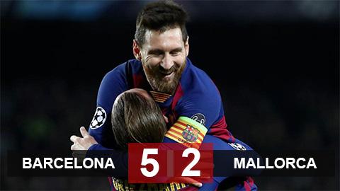 Barca 5-2 Mallorca: Quả bóng vàng Messi thị uy