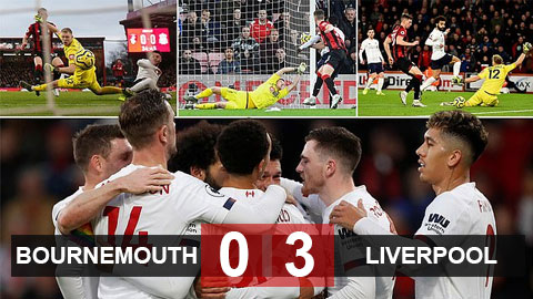 Bournemouth 0-3 Liverpool: Salah rực sáng, The Kop thắng mỹ mãn