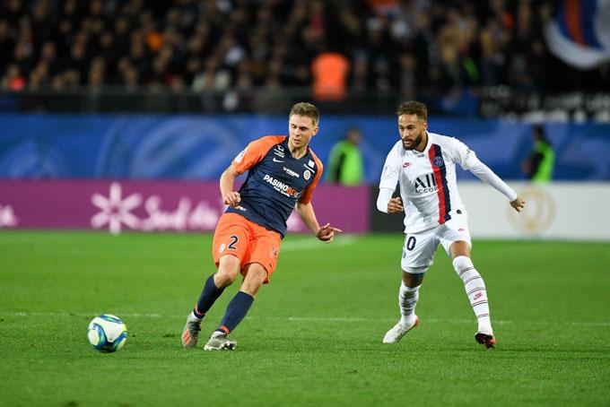 PSG đã có một trận đấu rất chật vật trước Montpellier