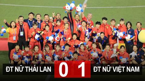 Nữ Thái Lan 0-0 Nữ Việt Nam (hiệp phụ 0-1): Việt Nam lần thứ 6 giành HCV SEA Games