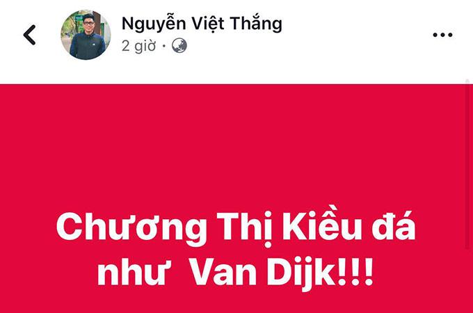 Cựu tiền đạo Việt Thắng dành lời khen ngợi đặc biệt cho người đồng nghiệp nữ