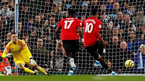 M.U là đội ghi bàn vào lưới Man City từ penalty nhiều nhất