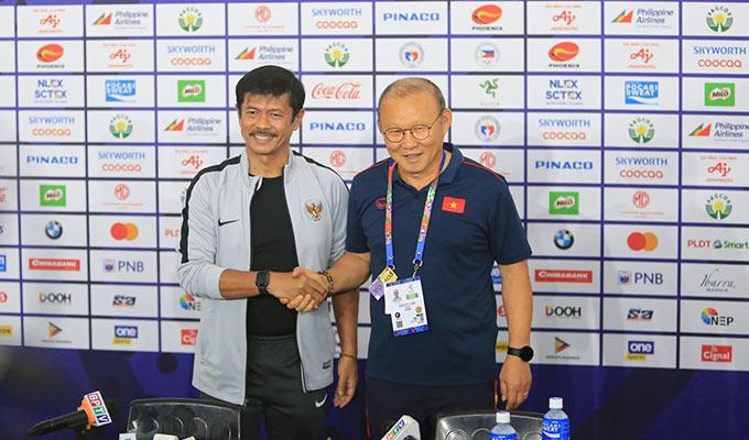 HLV Indra Sjafri tự tin sẽ đánh bại Park Hang Seo trong lần tái ngộ ở chung kết SEA Games 30 - Ảnh: Đức Cường