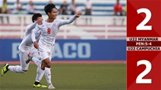 U22 Myanmar 2-2 (pen 5-4) U22 Campuchia - Tranh 3-4 Sea games 30