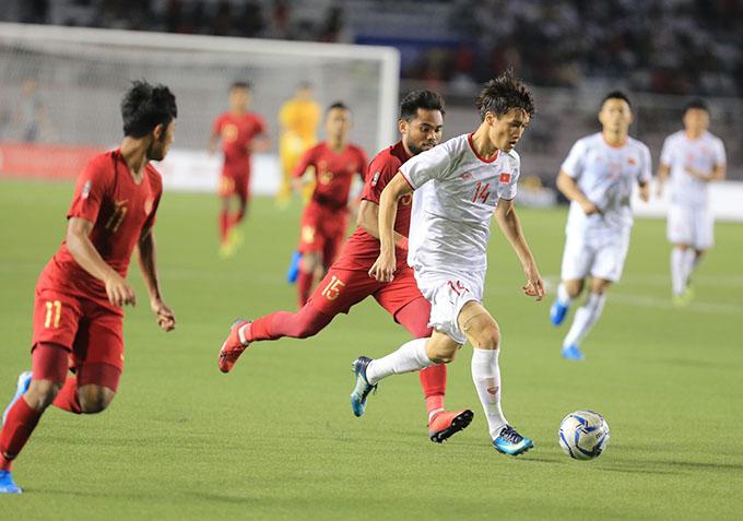 Thắng U22 Indonesia 3-0, U22 Việt Nam đã biến giấc mơ vàng thành hiện thực. Ảnh: Đức Cường