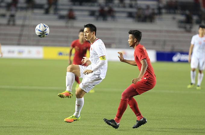 U22 Indonesia không thể ngăn cản được U22 Việt Nam giành HCV lịch sử ở SEA Games 30 - Ảnh: Đức Cường