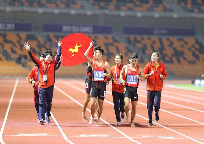 Điền kinh Việt Nam đã có một kỳ SEA Games thành công. Ảnh: Hoàng Giang