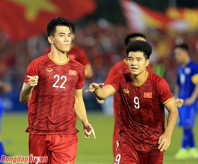 Sơ đồ 2 tiền đạo với Đức Chinh, Tiến Linh là điểm nhấn của U22 Việt Nam tại SEA Games 2019 - Ảnh: Đức Cường