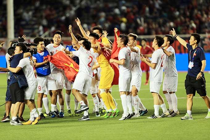 U22 Việt Nam chinh phục huy chương vàng SEA Games 2019 - Ảnh: Đức Cường