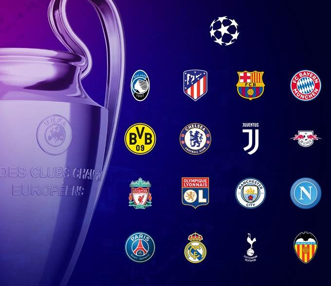 16 đội đi tiếp ở Champions League