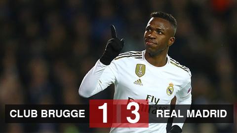 Club Brugge 1-3 Real Madrid: Bale dự bị, song tấu Brazil tỏa sáng