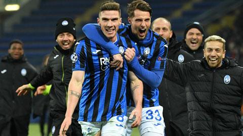 Atalanta vào vòng knock-out Champions League: Cú hích 40 triệu euro