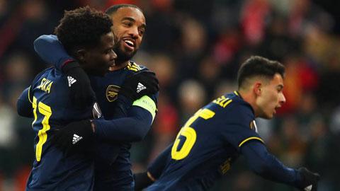 Arsenal và Eintracht Frankfurt giành vé vào vòng 1/16 Europa League