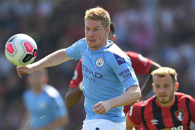 De Bruyne đã ghi 4 bàn và đóng góp 9 đường kiến tạo ở giải Ngoại hạng Anh mùa này
