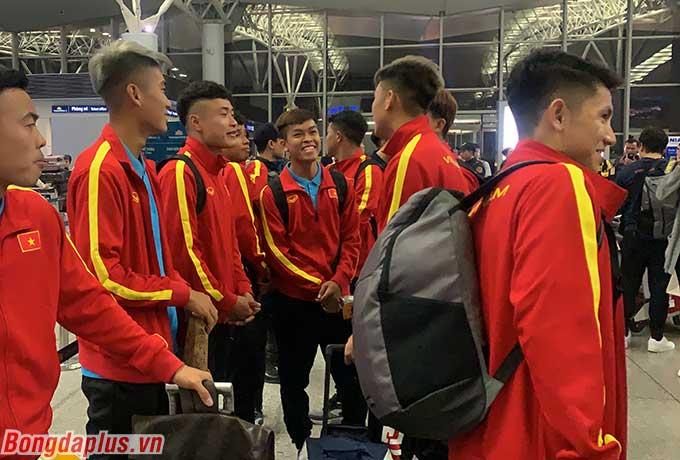 """Hữu Thắng, Mạnh Dũng, Quang Nho, Thiện Đức hay """"tân binh"""" Văn Tới là những gương mặt được ông Park bổ sung sau SEA Games 2019."""