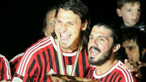 Ibra có thể làm học trò của người đồng đội cũ Gattuso ở Napoli