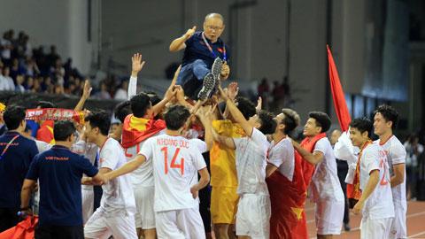 U22 Việt Nam ăn mừng chức vô địch SEA Games 30
