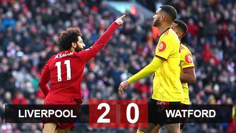 Liverpool 2-0 Watford: Salah lại sắm vai người hùng, Liverpool gieo sầu cho Watford