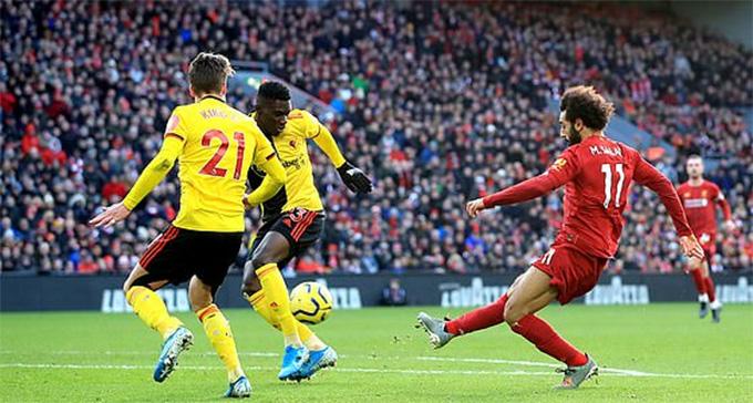 Salah đã ghi 8 bàn vào lưới Watford