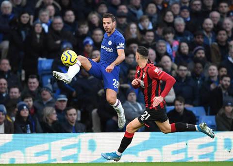 Chelsea không thể xuyên phá nổi hàng thủ Bournemouth