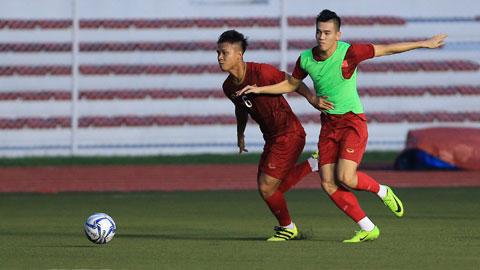 Các cầu thủ U23 tích cực tập luyện