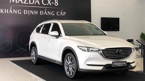 Mazda CX-8 giảm giá 100 triệu đấu Hyundai Santa Fe 2019, Toyota Fortuner