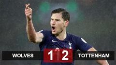 Wolves 1-2 Tottenham: Vertonghen ghi bàn phút 90, Mourinho thắng trận thứ 5 với Tottenham