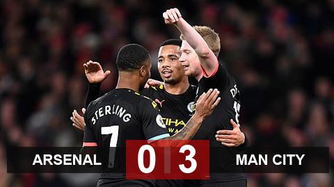 Arsenal 0-3 Man City: Màn trình diễn siêu hạng của De Bruyne