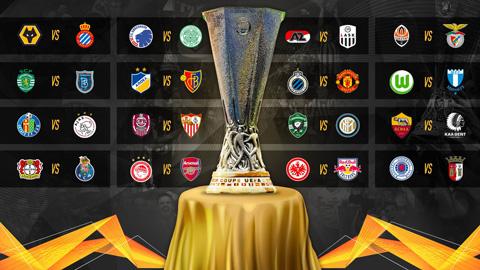 Bốc thăm vòng 1/16 Europa League: M.U gặp Brugge, Arsenal đối đầu Olympiacos
