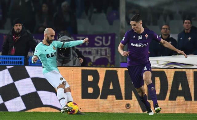 Valero có tình huống xử lý rất khéo léo trước khi ghi bàn vào lưới đội bóng cũ Fiorentina