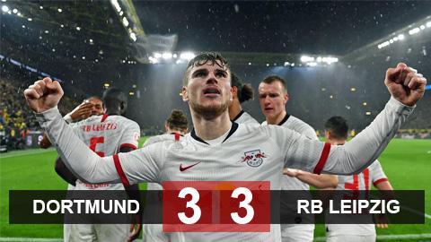 Dortmund 3-3 RB Leipzig: Cuộc rượt đuổi điên rồ và những khoảnh khắc thiên tài