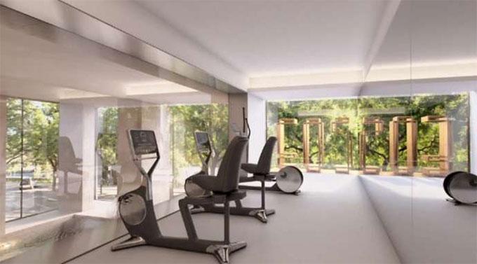 Phòng tập gym rộng rãi và đầy đủ tiện nghi
