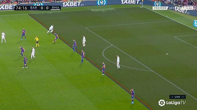 VAR xác định Mendy đã việt vị trước khi chuyền cho Bale