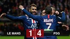 Le Mans 1-4 PSG: Dùng Mbappe và Di Maria đá chính, PSG thắng tưng bừng