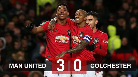 M.U 3-0 Colchester United: Quỷ đỏ vào bán kết cúp Liên đoàn