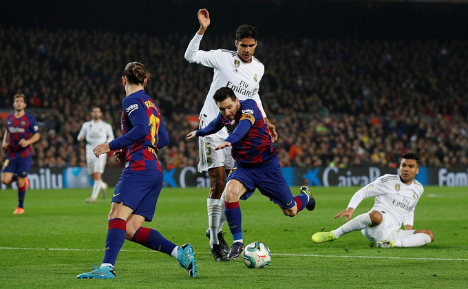 Messi không có nhiều đất diễn trận này nên Barca không thể đánh bại Real
