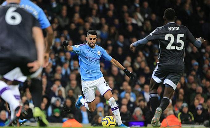 Mahrez ghi bàn gỡ hòa cho Man City