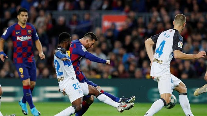Messi nâng tỷ số lên 3-1