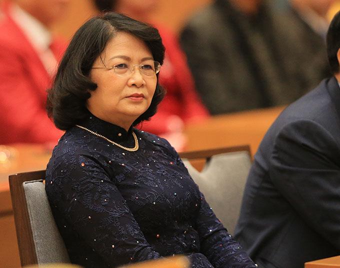 Tới dự buổi gặp mặt có Phó Chủ tịch nước Đặng Thị Ngọc Thịnh