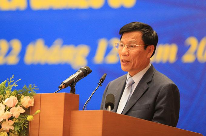 Ông Nguyễn Ngọc Thiện, Bộ trưởng Bộ VH-TT-DL cảm ơn sự quan tâm của Đảng và Nhà nước đã giúp cho Đoàn TTVN vượt khó, lập nhiều thành tích ở SEA Games 30