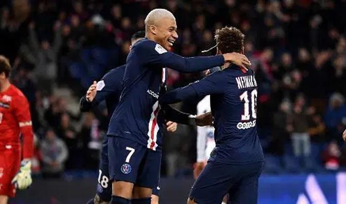 Neymar và Mbappe cùng tỏa sáng giúp PSG chiến thắng