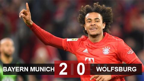 Bayern Munich 2-0 Wolfsburg: Sao trẻ cứu Hùm xám khỏi mất điểm vào phút cuối