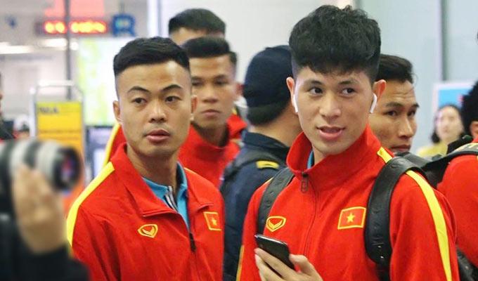 U23 Việt Nam trở về nước sau chuyến tập huấn tại Hàn Quốc - Ảnh: VFF